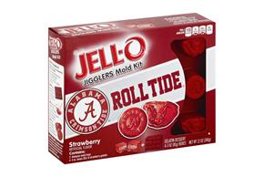 Jell-O Jigglers University Of Alabama Mold Kit With Strawberry