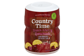 COUNTRY TIME Black Cherry Lemonade Sugar Sweetened Powdered Soft Drink 18.3 oz. Cannister