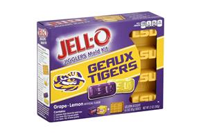 Jell-O Jigglers Louisiana State University Mold Kit With Grape & Lemon