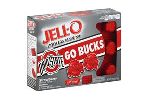 Jell-O Jigglers Ohio State University Mold Kit With Strawberry