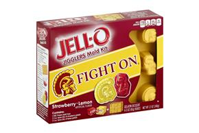 Jell-O Jigglers Usc Trojans Mold Kit With Strawberry & Lemon