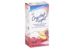 CRYSTAL LIGHT 0.7 OZ ON THE GO SOFT DRINK-POWDERED  POMEGRANATE LEMONADE 10 BOX/CARTON INNER PACK