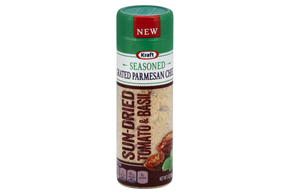Kraft Sun-Dried Tomato & Basil Seasoned Grated Parmesan Cheese 3 Oz. Shaker