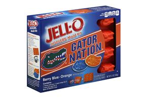 Jell-O Jigglers University Of Florida Mold Kit With Berry Blue & Orange