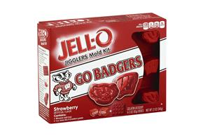 Jell-O Jigglers University Of Wisconsin Mold Kit With Strawberry