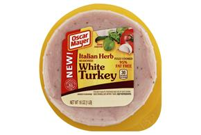 OSCAR MAYER Italian Herb Seasoned White Turkey 16oz Pack