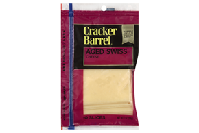 Cracker Barrel(R) Aged Swiss Cheese Slices 10 Ct Zip-Pak(R)
