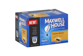 Maxwell House Master Blend Coffee K-Cup(R) Packs 12 ct Box