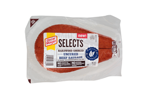 OSCAR MAYER Selects Hardwood Smoked Uncured Beef Sausage 12oz Pack