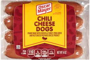 Oscar Mayer Chili Cheese Dogs 8 Ct Pack