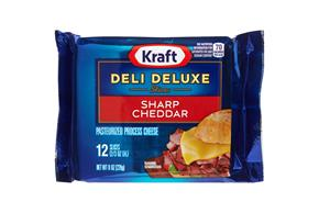 Kraft Deli Deluxe Sharp Cheddar Cheese Slices 12 Ct Pack