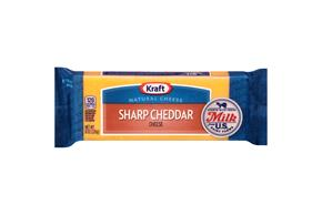 Kraft Natural Sharp Cheddar Cheese - 8Oz