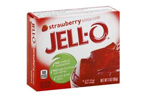 Jell-O Gelatin Strawberry 3 Oz Box