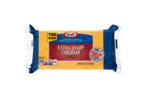 Kraft Natural Extra Sharp Cheddar Cheese - 2Lb