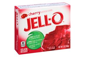 Jell-O Gelatin  Cherry 3 Oz  Box