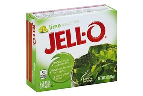 Jell-O Gelatin Lime 3 Oz Box