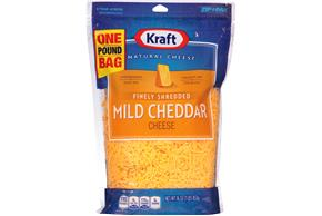 Kraft Finely Shredded Mild Cheddar Cheese - 16Oz
