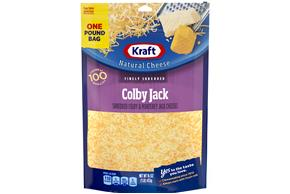 Kraft Finely Shredded Colby & Monterey Jack Cheese -16Oz
