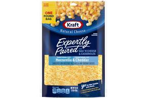 Kraft Pizza Style Mozzarella & Cheddar Shredded Natural Cheese  16Oz Bag