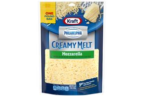 Kraft Mozzarella Cheese With A Touch Of Philadelphia Shredded Natural Cheese  16Oz Bag