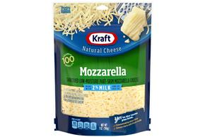 Kraft 2% Milk Mozzarella Shredded Natural Cheese 7 Oz Bag