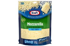 Kraft Fat Free Mozzarella Shredded Natural Cheese 7 Oz Bag