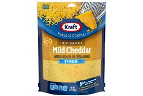 Kraft Shredded 2% Mild Cheddar Cheese - 7Oz