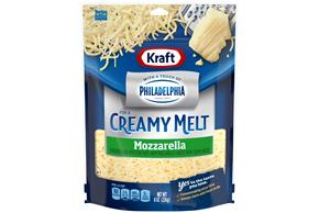 Kraft Mozzarella With Philadelphia Cream Cheese Shredded Cheese 8 Oz Bag