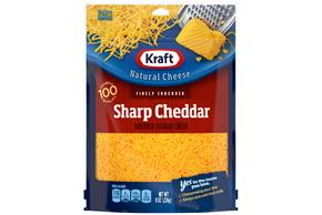 Kraft Sharp Cheddar Finely Shredded Natural Cheese  8Oz Bag