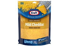 Kraft Mild Cheddar Finely Shredded Natural Cheese  8Oz Bag