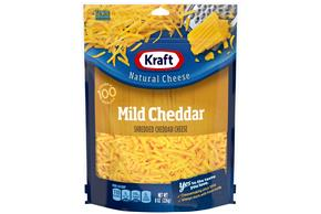 Kraft Mild Cheddar Shredded Natural Cheese 8 Oz Bag