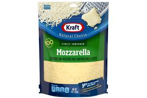 Kraft Mozzarella Finely Shredded Natural Cheese  8Oz Bag