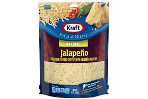 Kraft Jalapeno Cheddar Shredded Natural Cheese  8Oz Bag