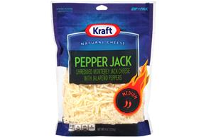 Kraft Pepper Jack Shredded Natural Cheese  8Oz Bag