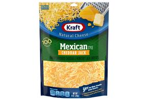 Kraft Mexican Style Cheddar Jack Finely Shredded Natural Cheese  8Oz Bag