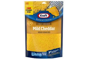 Kraft Mild Cheddar Finely Shredded Natural Cheese  16Oz Bag