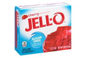 Jell-O Gelatin Cherry Sugar Free 0.3 Oz Box