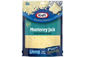 Kraft Monterey Jack Cheese Shredded Natural Cheese  8Oz Bag