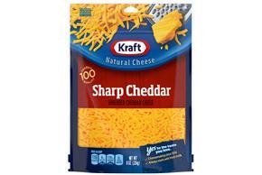 Kraft Sharp Cheddar Shredded Natural Cheese 8 Oz Bag