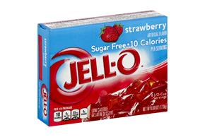Jell-O Gelatin Strawberry Sugar Free 0.6 Oz Box