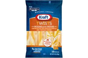 Kraft Mozzarella & Cheddar Twists - 12Ct