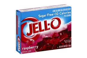 Jell-O Gelatin Raspberry Sugar Free 0.6 Oz Box