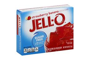 Jell-O Gelatin Strawberry Banana Sugar Free  0.6 Oz Box
