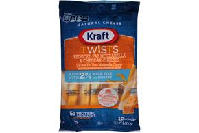 Kraft Reduced Fat Mozzarella & Cheddar Twists - 12Ct