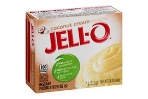 Jell-O Pudding-Instant Coconut 3.4 Oz Box