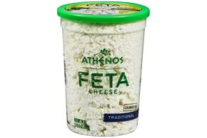 Athenos Feta Crumbled Traditional Cheese 24 Oz Plastic Tub