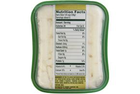 Athenos Crumbled Traditional Fat Free Feta Cheese 5 Oz. Tub
