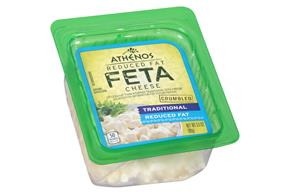 Athenos Crumbled Traditional Reduced Fat Feta Cheese 3.5 Oz. Tub
