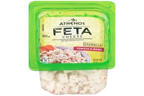 Athenos Crumbled Tomato & Basil Feta Cheese 4 Oz.