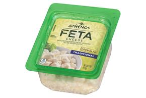 Athenos Crumbled Traditional Feta Cheese 4 Oz. Tub